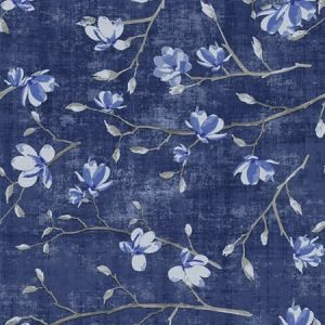 WNM 0003BLOO BLOOM Delft Blue Scalamandre Wallpaper