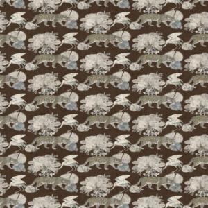 WNM 0005 LEOP LEOPARD WALK Chocolate Scalamandre Wallpaper