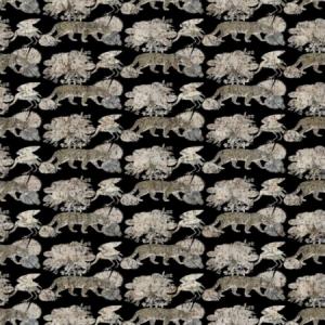 WNM 0006 LEOP LEOPARD WALK Black Scalamandre Wallpaper