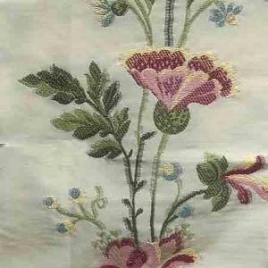 Y5 00010361 CARLOTTA VINE Tourmaline Ivory Old World Weavers Fabric