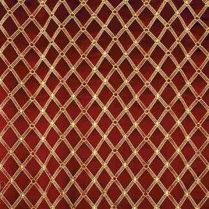 ZA 2128REAL REALE DIAMOND Cherry Gold Old World Weavers Fabric