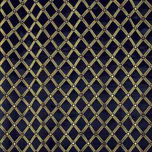 ZA 2129REAL REALE DIAMOND Midnight Old World Weavers Fabric