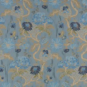 ZA 00556410 PALAZZO PAMPHILY LAMPAS Lagoon Old World Weavers Fabric