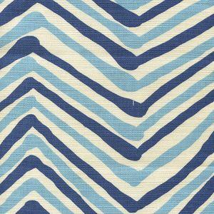 AC950-04 ZIG ZAG MULTI COLOR New Blue Navy on Tint Quadrille Fabric