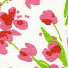 020070M TULIP MULTICOLOR Multi-Pink Green on White Quadrille Fabric