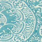302211F VENETO Dark Turquoise Quadrille Fabric