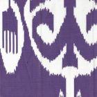 303033F NOMAD Purple on White Linen Quadrille Fabric