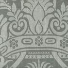 306171F CORINTHE DAMASK REVERSE Light Grey on Dark Grey Quadrille Fabric