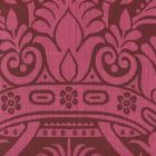306175F CORINTHE DAMASK REVERSE Red on Burgundy Quadrille Fabric