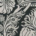 306178F CORINTHE DAMASK REVERSE Grey on Black Quadrille Fabric