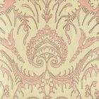 306240C-01 BORGHESE Brown Soft Pink on Cream Quadrille Fabric