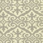 306490F-06 FRENCH DAMASK Soft Gray on Tint Quadrille Fabric