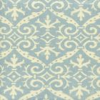 306495F-03 FRENCH DAMASK REVERSE Soft Windsor Blue on Tint Quadrille Fabric