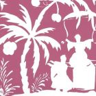 6015-07WWP LYFORD BACKGROUND Magenta On White Quadrille Wallpaper