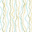 6370-02WWP GINZA Inca Aqua Jungle On White Quadrille Wallpaper