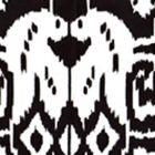6460-33WP ISLAND IKAT Black On White Quadrille Wallpaper