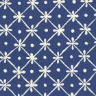 9955-01 GATE HOUSE REVERSE ONE COLOR New Navy On Light Tint Quadrille Fabric