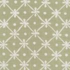 9955W-21 GATE HOUSE REVERSE ONE COLOR Sage Green On White Oyster Quadrille Fabric