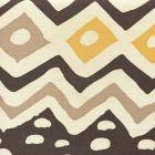 AC103-18 CAP FERRAT Multi Brown Taupe Gold on Tint Quadrille Fabric