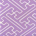 AC207-101 SAYA GATA Lavender on White Quadrille Fabric