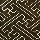 AC207-26 SAYA GATA Brown on Tint Quadrille Fabric
