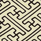 AC207-42 SAYA GATA Brown Lines on Tint Quadrille Fabric