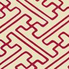 AC207-60 SAYA GATA Magenta Lines on Tint Quadrille Fabric
