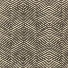 AC303-16 PETITE ZIG ZAG Brown on Tint Quadrille Fabric
