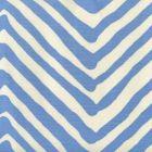AC305-15 ZIG ZAG LARGE SCALE French Blue on Tint Quadrille Fabric