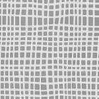 AC403-24 CRISS CROSS Dark Grey on White Quadrille Fabric