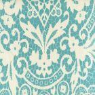 AC870-03 NEW BROMPTON Turquoise on Tint Quadrille Fabric