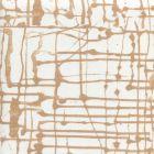 AC990-01 TWILL Camel on White Quadrille Fabric