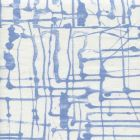 AC990CU-06 TWILL Denim Blue on White Curtain Weight Quadrille Fabric