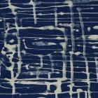 AC996-09 TWILL REVERSE New Navy on Oatmeal Quadrille Fabric