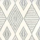 AP850-07 SAFARI EMBROIDERY Medium Gray On Almost White Quadrille Wallpaper