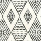 AP850-11 SAFARI EMBROIDERY Black On Almost White Quadrille Wallpaper