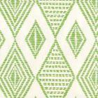 AP850-15 SAFARI EMBROIDERY Lime On Almost White Quadrille Wallpaper