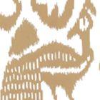 2435-35WP BALI ISLE Camel II On Almost White Quadrille Wallpaper