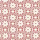 8150WP-09 CEYLON BATIK Red On Almost White Quadrille Wallpaper