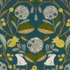 F1314/02 FORESTER Forest Chartreuse Clarke & Clarke Fabric