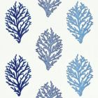 GW 0003 27204 CORAL REEF EMBROIDERY Marine Scalamandre Fabric