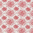 HN 000R F1020 FIREWORKS Red On White Scalamandre Fabric