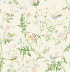 F111/1002-CS HUMMINGBIRDS Cream Soft Multi Cole & Son Fabric
