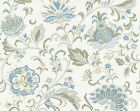 27173-001 DELPHINE EMBROIDERY Summer Sage Scalamandre Fabric