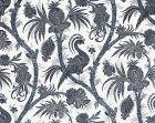 16575-005 BALINESE PEACOCK Indigo Scalamandre Fabric