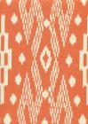 7610-08 ANDROS BATIK Orange on Tinted Linen Custom Only Quadrille Fabric