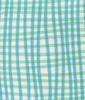 AC105-3WLC COUNTRY CHECK Turquoise Aqua on White Quadrille Fabric