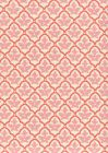 7160-03 CUMBERLAND Coral Pink on Tint Quadrille Fabric