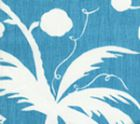 6015-03 LYFORD BACKGROUND Dark Turquoise on White Quadrille Fabric