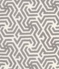 2525R-07 MAZE REVERSE ONE COLOR Grey on Tint Quadrille Fabric